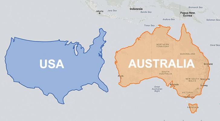 Diese Landkarte vergleicht die realen Größen der Länder und entkräftet damit so manchen Mythos