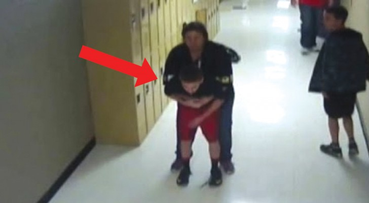 She sees a red-faced student --- Her timely intervention saved his life!