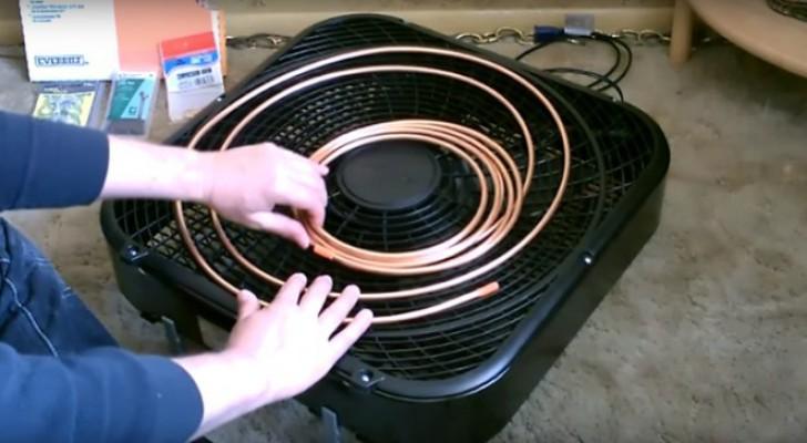 Come convertire un normale ventilatore in un rinfrescante condizionatore