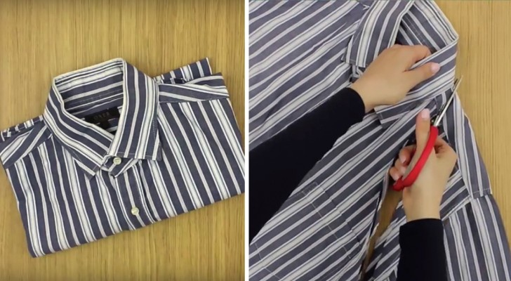 Here is how to recycle an old shirt ingeniously and WITHOUT SEWING!