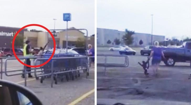 Um macaco com fralda aparece no estacionamento: o episódio revela uma triste realidade