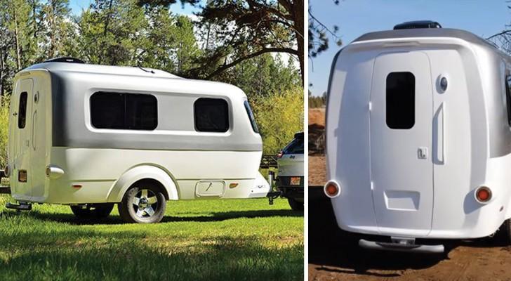 Ultra-leggero e trainabile da auto di piccole dimensioni: questo mini-caravan vi conquisterà