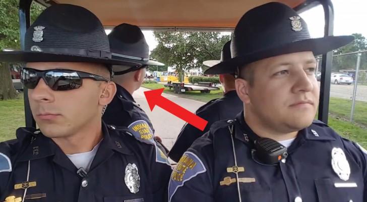 4 poliziotti in servizio: appena inizierà la musica non riuscirete a non ridere!