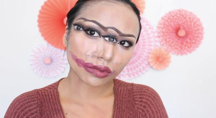 Create an optical illusion with makeup!
