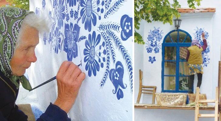 Questa donna ha 87 anni e un talento incredibile: guardate come ha trasformato il suo villaggio